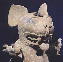 Moche II/III Lord Wearing Monkey Headdress
